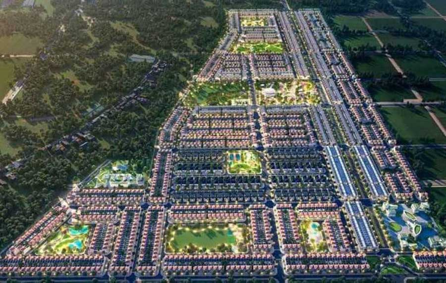 Phối cảnh tổng thể khu đô thị 92ha Gem Sky World Long Thành Đồng Nai của Đất Xanh Group
